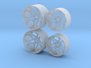RotiForm ZRH Inspired Wheel Set  - 1:24th scale in Smooth Fine Detail Plastic