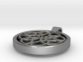 Dara Knot Pendant in Natural Silver