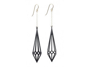 Deco Drop Earrings in White Natural Versatile Plastic