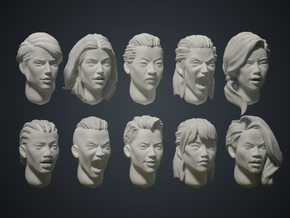 Warfaces2 - Mix Female in Smoothest Fine Detail Plastic