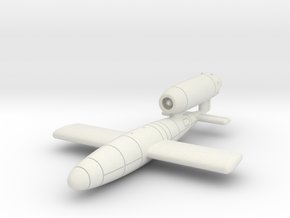 (1:144) V-1 flying bomb (Disposable Porsche Jet) in White Natural Versatile Plastic