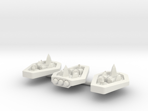 PH103 Syrotukan Escort Frigate (x3) in White Natural Versatile Plastic