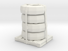 Tire Stack  in White Natural Versatile Plastic