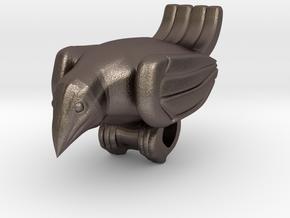 Bird Pendant  in Polished Bronzed Silver Steel