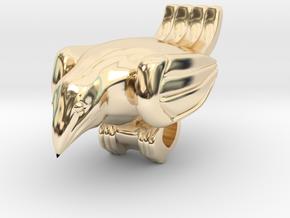 Bird Pendant  in 14k Gold Plated Brass