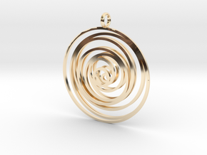 Time in 14k Gold Plated Brass