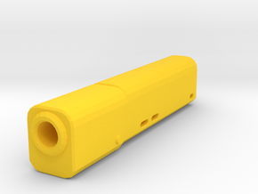 Psycho Airsoft Silencer (14mm-) in Yellow Processed Versatile Plastic