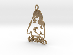 Katy Perry Fan Pendant - Exclusive Jewellery in Polished Gold Steel
