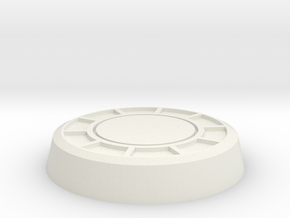 Poker Chip Model Base in White Natural Versatile Plastic