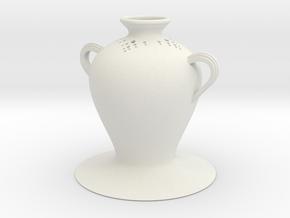 Vase 273800 in White Natural Versatile Plastic
