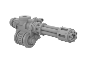 Mini Knight Rotary Gun (Right) in Smooth Fine Detail Plastic