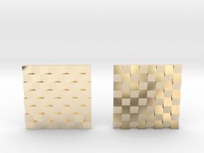 Chessboard Earrings in 14k Gold Plated Brass: Medium