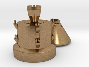 Orion capsule and booster stage in Natural Brass