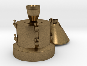 Orion capsule and booster stage in Natural Bronze