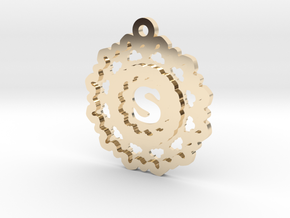 Magic Letter S Pendant in 14K Yellow Gold