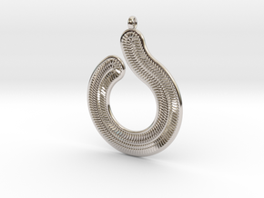 Circles & Scales Pendant #1 in Platinum