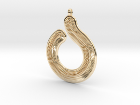 Circles & Scales Pendant #1 in 14k Gold Plated Brass