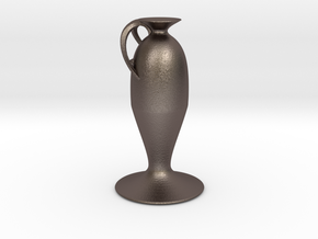 Vase 49lkts in Polished Bronzed Silver Steel