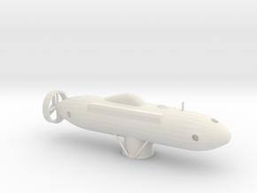 1/144 Scale DSRV-1 Mystic in White Natural Versatile Plastic