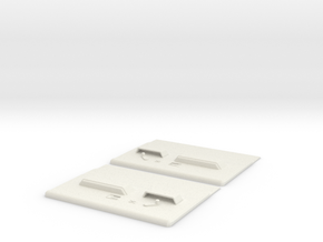 Blazer Door Panels  in White Natural Versatile Plastic