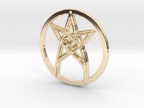 Eye in 14k Gold Plated Brass