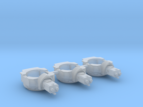 Heavy Transport Gun Turret - 3 Pack in Smooth Fine Detail Plastic