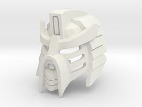 The Kanohi Aki Hau: Honorable Mask of Shielding in White Premium Versatile Plastic