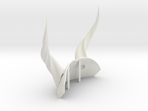 LARP horns wearable in White Natural Versatile Plastic