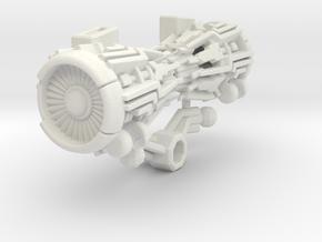 Starscream Back Boosters (Studio Series Voyager) in White Premium Versatile Plastic
