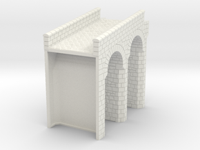 HOF024 - Bridge to the gate tower in White Natural Versatile Plastic