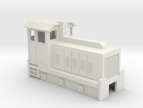 HOn30 Australian 6w Sugar Cane Locomotive  in White Natural Versatile Plastic