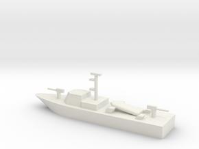 1/285 Scale Super Dvora II Fast Patrol Boat in White Natural Versatile Plastic