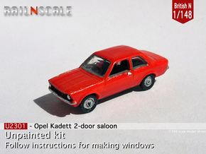 Opel Kadett 2 door saloon (British N 1:148) in Smoothest Fine Detail Plastic