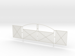 Ornate Security Gate 1-87 HO Scale in White Natural Versatile Plastic