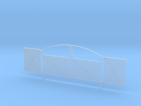 Ornate Security Gate 1-87 HO Scale in Smooth Fine Detail Plastic