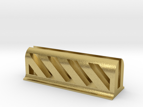 Business Card Holder in Natural Brass