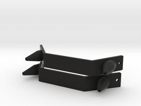Pair of Toe Plates & Spikes MOW 2013-14 boots ESB in Black Premium Versatile Plastic