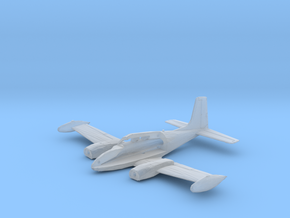 U-3A-144-InFlight-1-airframe in Smooth Fine Detail Plastic