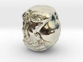 """""""Hello"""" Carving Sculpture (Dark Souls) in 14k White Gold: Small"""