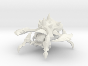 1/60 Large Roach for Pairing Siege Tank in White Natural Versatile Plastic