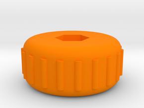 X-Carve Z Axis Knob in Orange Processed Versatile Plastic