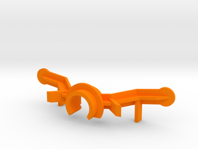 PSSX00104 body adapter for Scalextric AMG GT3 in Orange Processed Versatile Plastic