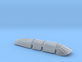 AD5-144scale-tarmac-9-clearpart in Smoothest Fine Detail Plastic