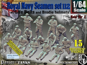 1/64 Royal Navy Seamen Set 112 in Smooth Fine Detail Plastic