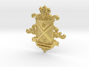 Black Family Crest in Polished Brass