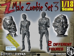 1-18 Male Zombie Set3 in White Natural Versatile Plastic