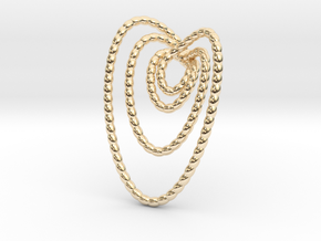 Hearts beads pendant necklace in 14K Yellow Gold