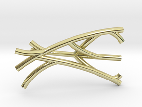 Brachial Plexus Charm in 18k Gold Plated Brass