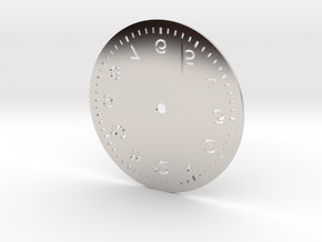 Numbered Dial in Rhodium Plated Brass
