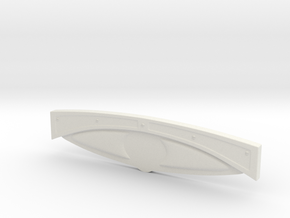 1/8 '30 Ford Dashboard in White Natural Versatile Plastic